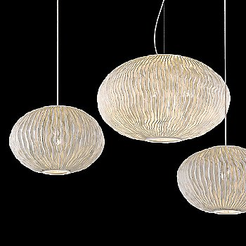 Shown lit in White finish, Medium and Large sizes