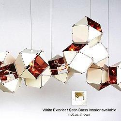 Welles Long Chandelier (White/Satin Brass) - OPEN BOX RETURN