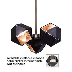 Welles 3 Spoke Pendant Light(Black/Nkl/Copper/6 In)-OPEN BOX