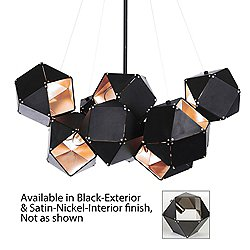 Welles Central Chandelier (Black/Satin Nickel) - OPEN BOX