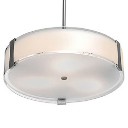 Tara LED Convertible Semi-Flushmount/Pendant Light
