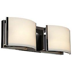 Nitro 2 Vanity Light (Brushed Steel/Halogen/2 Lights) - OPEN BOX RETURN