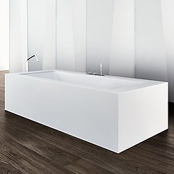 Wave Freestanding Corian Bathtub
