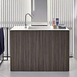 Light30 Three-Door Wood Vanity with Floor Drain