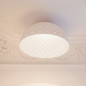 Capitone LED Dome Flushmount, in use