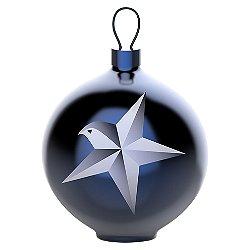 Blue Christmas Star Ball Ornament