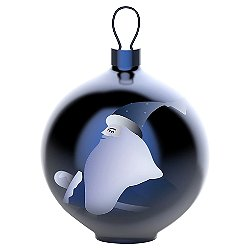 Blue Christmas Santa Claus Ball Ornament