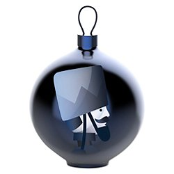 Blue Christmas Soldier Ball Ornament