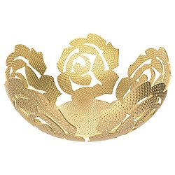 La Rosa Brass Fruit Bowl - OPEN BOX RETURN