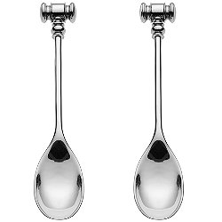 Dressed Egg Opener Spoon, Set of 2