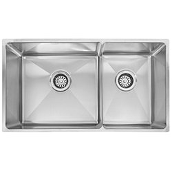 Professional Offset Double Bowl Undermount Kitchen Sink