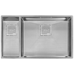 Peak Offset Double Bowl Undermount Kitchen Sink