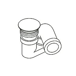 Arblu Bathtub Drain Pipe Click-Clack with Siphon