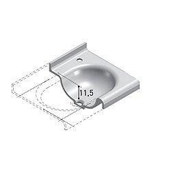 Tecnoblu Vanity Top with Integrated Washbasin 47 Inch - Matt White