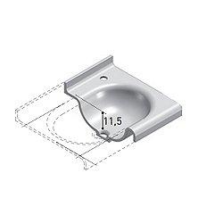 Technoblu Vanity Top with Integrated Washbasin 37 Inch - Matt White