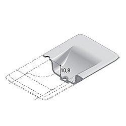 Vanity Top with Integrated Washbasin 47 Inch -  Matt White