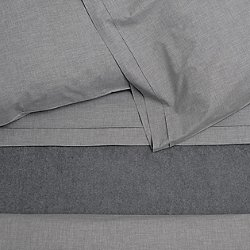 HEATHER Fitted Sheet (Grey/King) - OPEN BOX RETURN