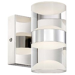 H2O 282710206 2-Light LED Bathroom Wall Sconce