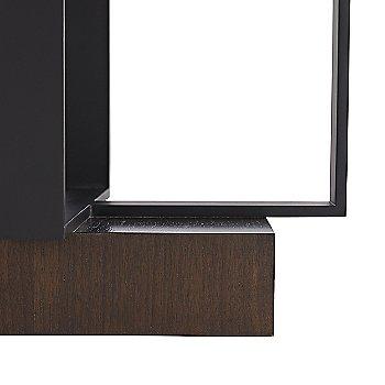 Dark Walnut Veneer finish, detail