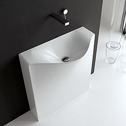 One Shot Back Free Standing Washbasin