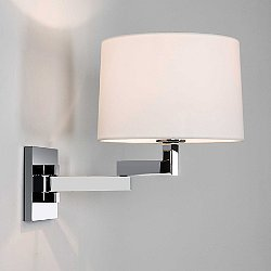 Momo Adjustable Swing Arm Wall Sconce (Chr/Rd/Wh) - OPEN BOX