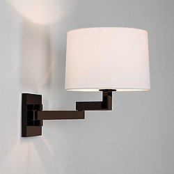 Momo Adjustable Swing Arm Wall Sconce(Bronze/White)-OPEN BOX