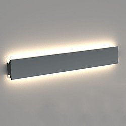 Lineacurve 12-Inch Mono LED Wall/Ceiling Light (Anthracite/36 inch/Direct/Indirect/3000K/Dimmable 2) - OPEN BOX RETURN