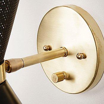 Brass backplate detail