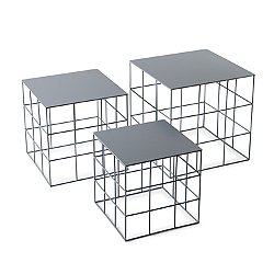 Reton Square Coffee Table, Set of 3