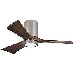 Irene-HLK LED Flush Mount 3-Blade Ceiling Fan