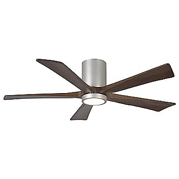 Shown in Brushed Nickel finish with Walnut blades, 52 inch with light cap