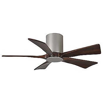 Shown in Brushed Nickel finish with Walnut blades, 42 inch without light cap