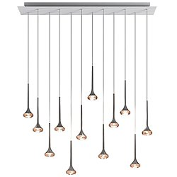 Fairy 12 Light Linear Cluster Pendant Light