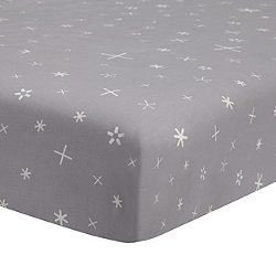 Galaxy Galactic Grey Stars Fitted Crib Sheet