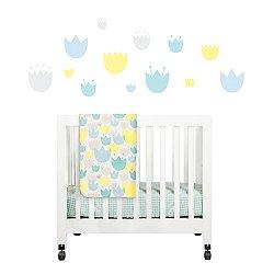 Tulip Garden 4-Piece Mini Crib Set