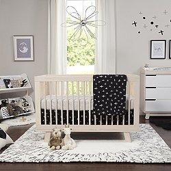Tuxedo Monochrome  Piece Nursery Crib Bedding Set