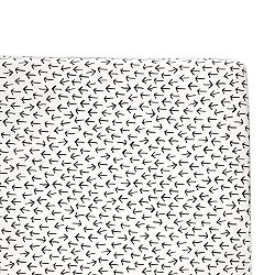 Tuxedo Monochrome Arrows Fitted Crib Sheet