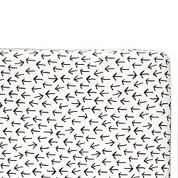 Tuxedo Monochrome Arrows Mini Crib Sheet