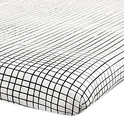 Tuxedo Monochrome Grid Mini Crib Sheet
