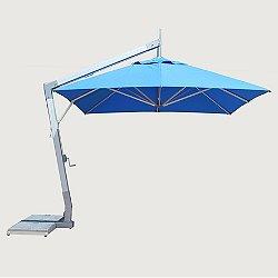 10' Square Hurricane Side Wind Aluminum Cantilever Umbrella