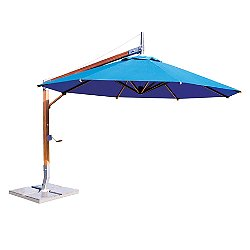10' Round Sirocco Side Wind Bamboo Cantilever Umbrella