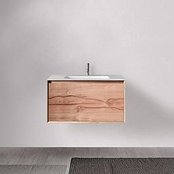 45 Degree 27.5-Inch Wall-Mounted Vanity and Sink