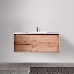 45 Degree 47.25-Inch Wall-Mounted Vanity and Sink