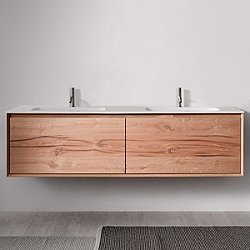 45 Degree 71-Inch Wall-Mounted Vanity and Sink