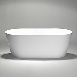 Coco Blu Stone Large Freestanding Oval Bathtub