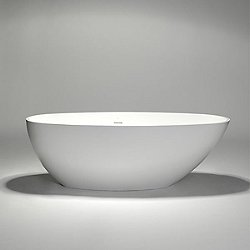 Halo Blu Stone Large Sloped Freestanding Oval Bathtub