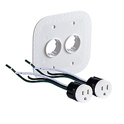 22.6.2 20A Drywall Outlet Assembly (White) - OPEN BOX RETURN