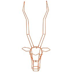 Gazelle Geometric Animal Head