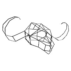 Water Buffalo Geometric Animal Head