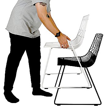 Lucy Stacking Chair / in use